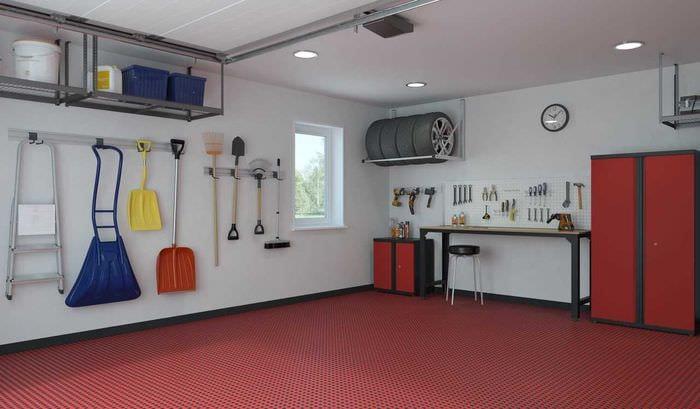 вариант необычного дизайна гаража