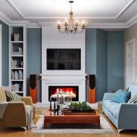 идея функционального стиля гостиной комнаты 17 кв.метров фото