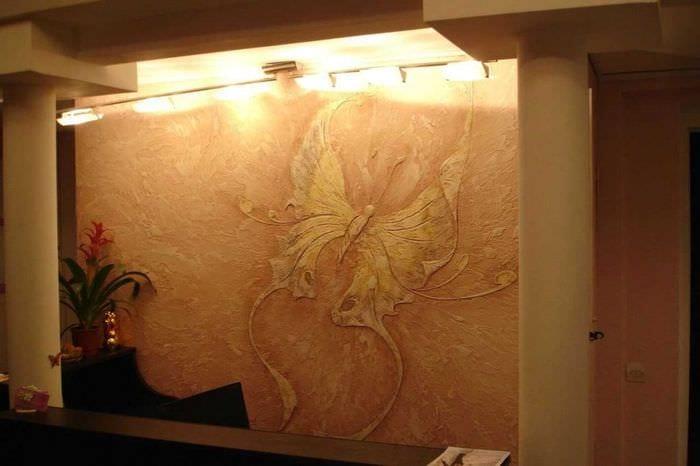Дизайн стен из штукатурки фото
