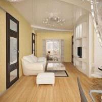 вариант красивого стиля 2 комнатной квартиры картинка пример