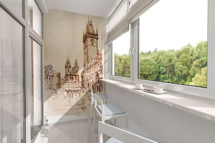 идея необычного декора небольшого балкона