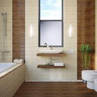 вариант необычного интерьера ванной фото