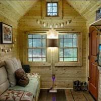 идея яркого стиля дома в деревне картинка