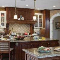 вариант необычного интерьера кухни с аркой картинка