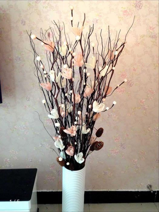 Ветки для напольной вазы своими руками 212