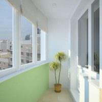 идея необычного интерьера небольшого балкона картинка