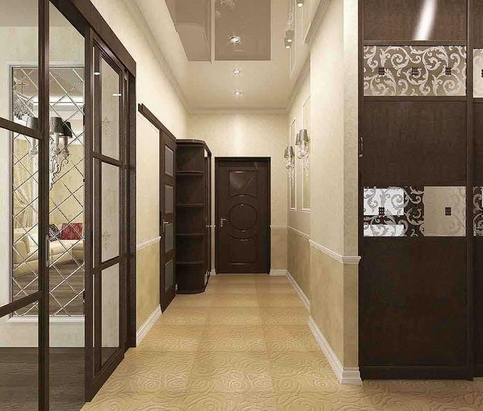 вариант необычного декора гостиной 3-х комнатной квартиры