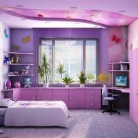 вариант оригинального интерьера спальни для девочки картинка