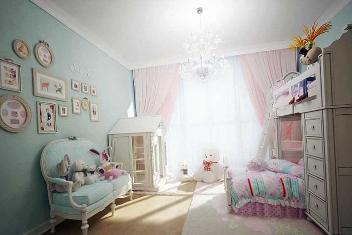 вариант красивого дизайна спальни для девочки