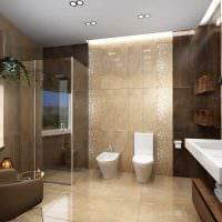 идея красивого дизайна ванной комнаты картинка