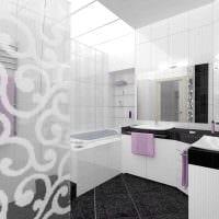 вариант необычного дизайна ванной в квартире картинка