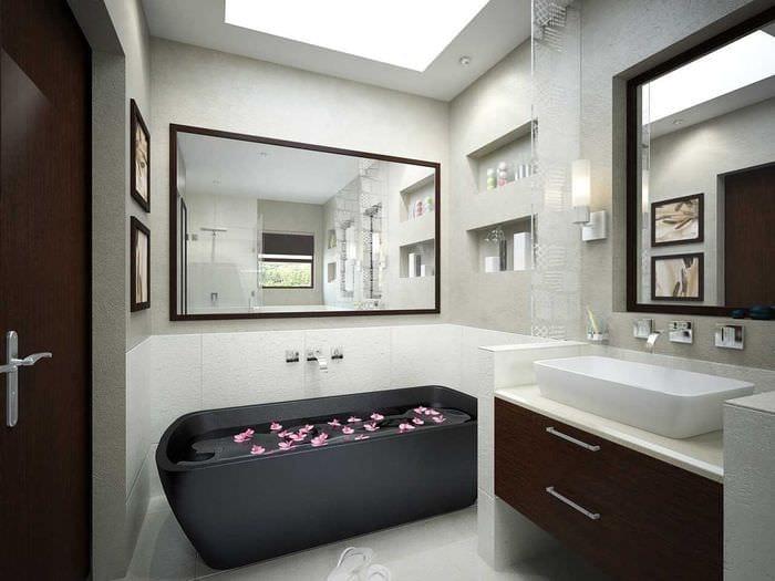 идея необычного дизайна ванной