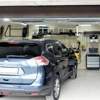 вариант современного интерьера гаража фото