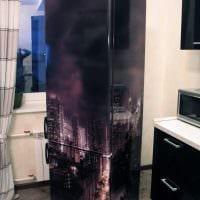 идея необычного украшения холодильника фото