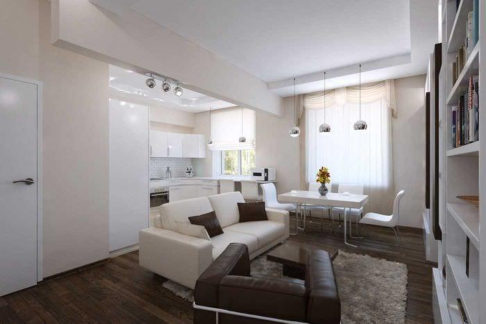 вариант необычного стиля квартиры