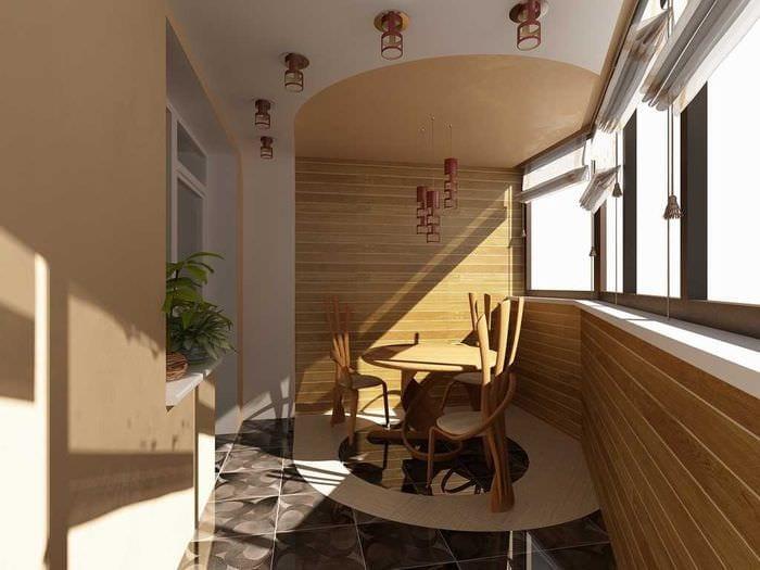 Разделение балкона.