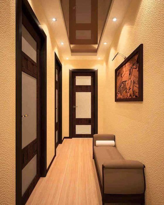 идея красивого декора коридора