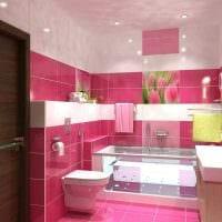 вариант красивого интерьера ванной комнаты в квартире фото