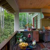 идея оригинального дизайна веранды в доме фото