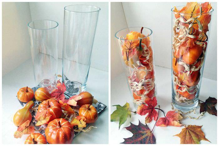 вариант яркого декорирования вазы