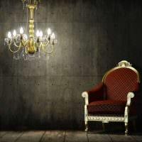 идея яркой декоративной штукатурки в стиле квартиры под бетон картинка