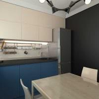 вариант красивого декора кухни 3-х комнатной квартиры картинка