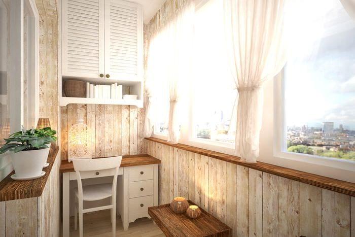вариант современного стиля маленького балкона