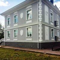 вариант необычного фасада загородного дома картинка