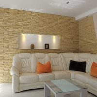 идея яркого декоративного камня в стиле комнаты картинка