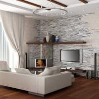 идея оригинального декоративного камня в дизайне квартиры картинка