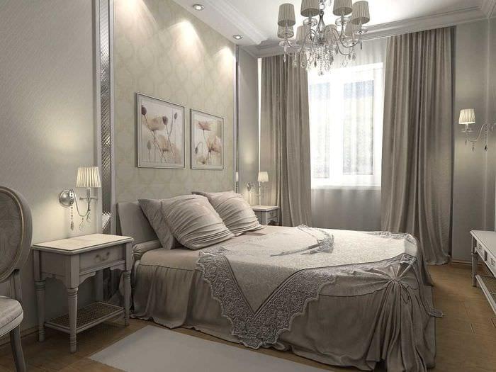 идея красивого декорирования дизайна спальной комнаты
