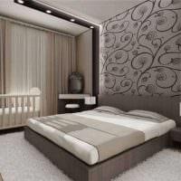 идея красивого декорирования интерьера спальни картинка