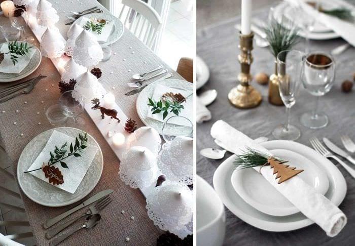 идея красивого декорирования стола