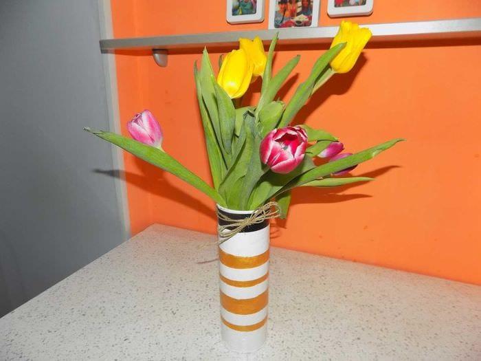 Цветы из подручного материала своими руками фото для