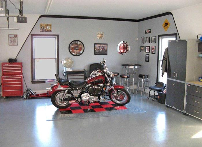 вариант функционального оформления гаража