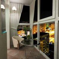 идея современного дизайна небольшого балкона картинка