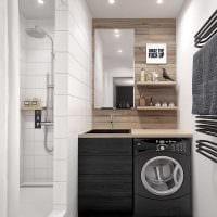 вариант оригинального дизайна ванной в квартире картинка