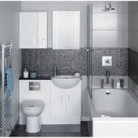 вариант оригинального стиля белой ванной комнаты картинка