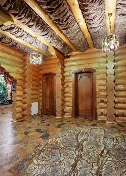 идея оригинального стиля дома в деревне
