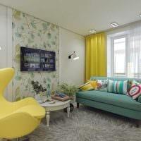 вариант красивого интерьера спальни 3-х комнатной квартиры фото