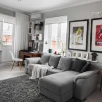 идея красивого оформления гостиной комнаты 17 кв.метров картинка