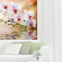 вариант красивого декорирования интерьера гостиной картинка