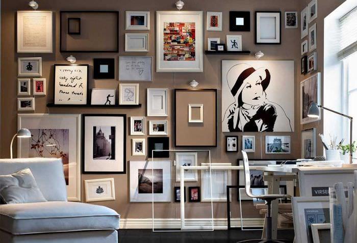 идея красивого декорирования стен в помещениях