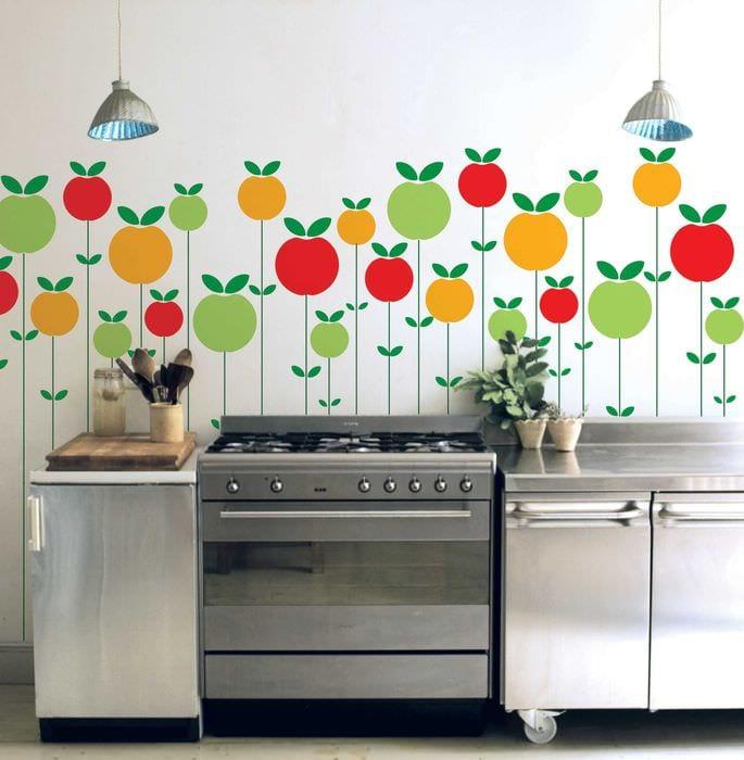 идея яркого оформления стен в помещениях
