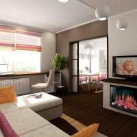 вариант оригинального стиля 2 комнатной квартиры картинка пример
