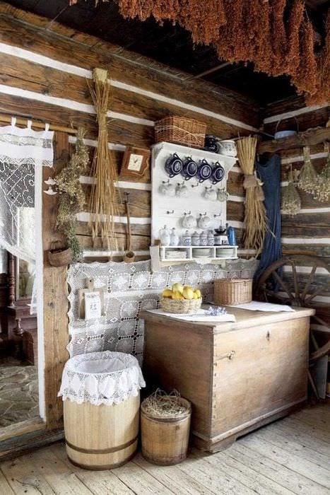 вариант красивого стиля дачи в деревне