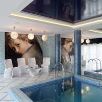 вариант необычного стиля небольшого бассейна фото