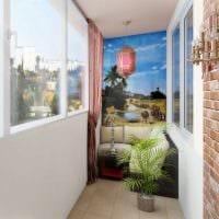 вариант современного дизайна маленького балкона картинка