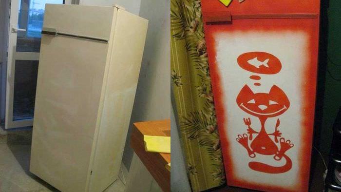 идея оригинального оформления холодильника
