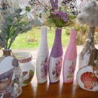 вариант красивого украшения настольной вазы картинка